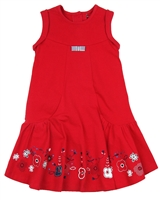 Deux par Deux Jersey Dress Red Orchid