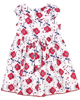 Deux par Deux Floral Print Dress Red Orchid