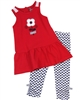 Deux par Deux Red Tunic and Leggings Set Red Orchid