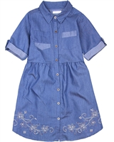 Deux par Deux Chambray Dress Red Orchid