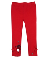 Deux par Deux Red Capri Leggings Red Orchid