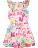 Deux par Deux Pink Butterfly Print Dress Miss Butterfly