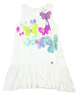 Deux par Deux White Tunic Miss Butterfly