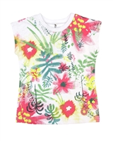 Deux par Deux Printed T-shirt Flamingo Edit