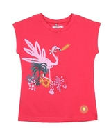 Deux par Deux Red T-shirt Flamingo Edit