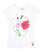 Deux par Deux White T-shirt Flamingo Edit