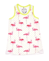 Deux par Deux White Tank Top Flamingo Edit