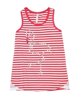 Deux par Deux Striped Tank Top Flamingo Edit