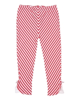 Deux par Deux Striped 3/4 Leggings Flamingo Edit
