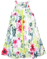 Deux par Deux Printed Dress Flamingo Edit