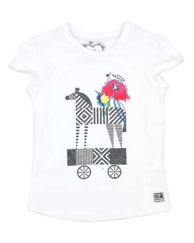 Deux par Deux White T-shirt So Safari
