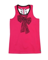 Deux par Deux Tank Top with Printed Bow So Safari