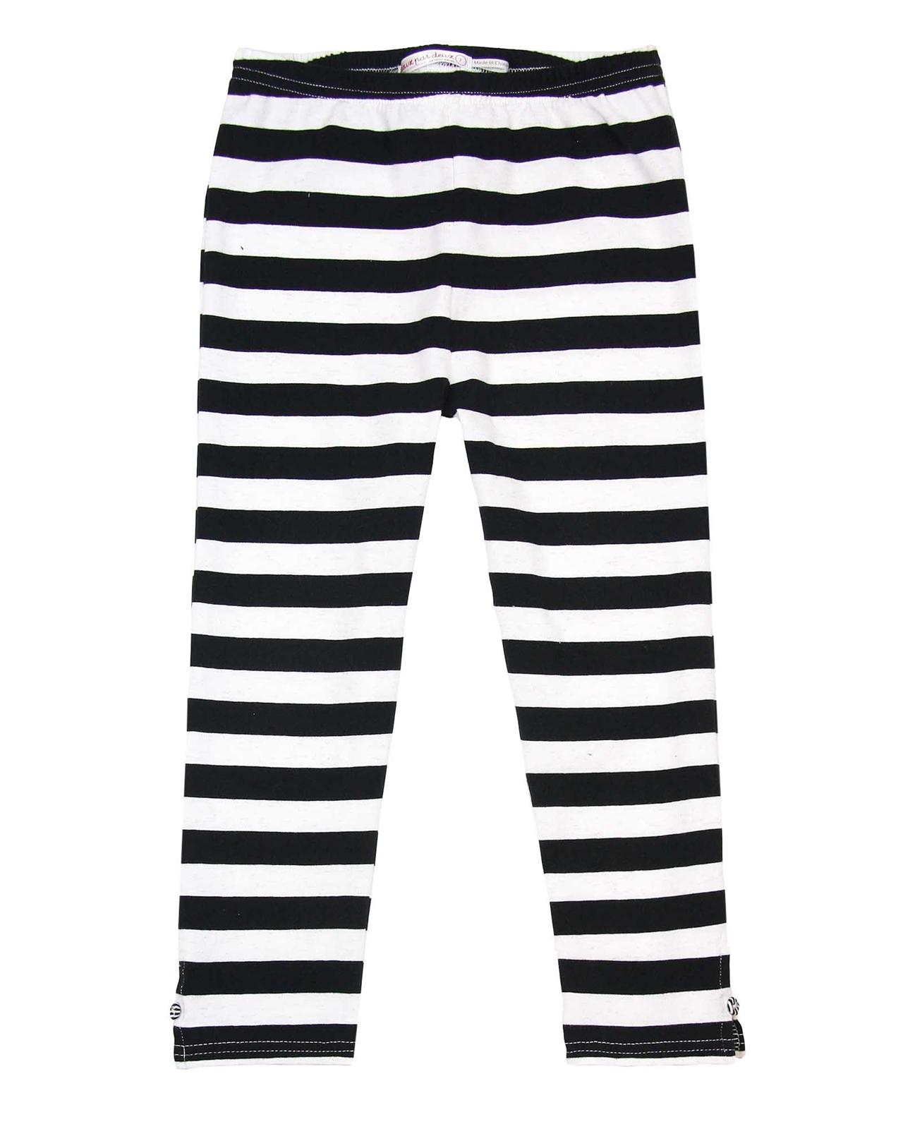 b93fb7404e5fa Deux par Deux. So Safari. Capri leggings in bold stripes ...