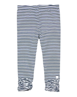 Deux par Deux Striped Capri Leggings High Style at Low Tide