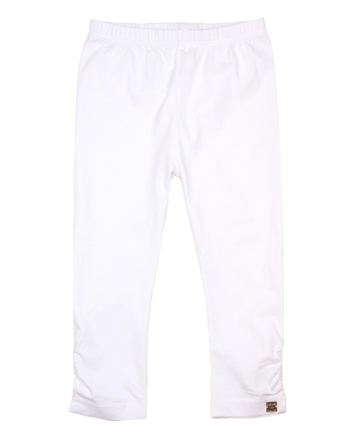 Deux par Deux White Cropped Leggings High Style at Low Tide