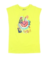 Deux par Deux Yellow T-shirt Cold Press Fashion