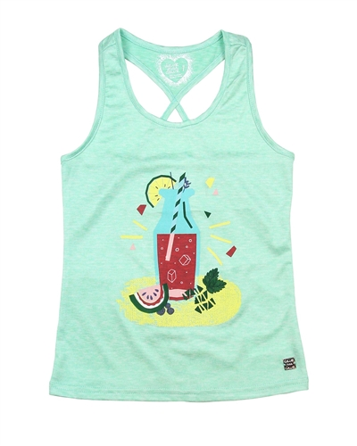 Deux par Deux Aqua Tank Top Cold Press Fashion