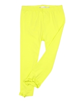Deux par Deux Yellow Capri Leggings Cold Press Fashion