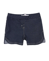 Deux par Deux Basic Navy Jegging Shorts