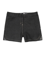 Deux par Deux Basic Black Jegging Shorts