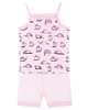 Deux par Deux Shorts Pyjamas Set with Cat