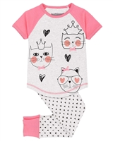 Deux par Deux Pants Pyjamas Set with Hearts