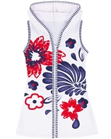 Deux par Deux Hooded Cover-up Dress Playa Del Mar