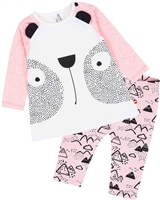 Deux par Deux Baby Girls' Top and Printed Pants Set Between Heaven and Earth