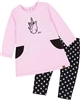 Deux par Deux Baby Girls' Pink Tunic and Leggings Set Unicorns and Dinos