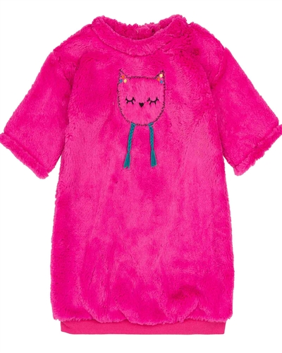 Deux par Deux Fleece Dress Owl You Need is Love