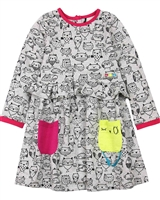 Deux par Deux Printed Dress Owl You Need is Love