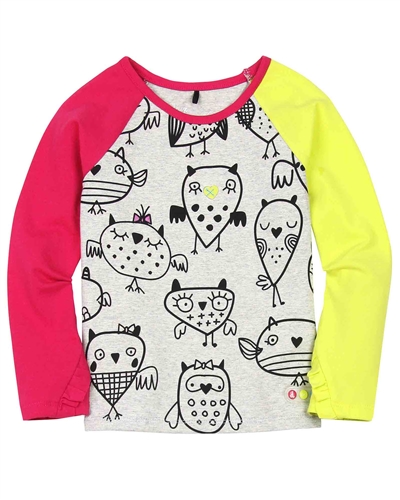 Deux par Deux Printed Top Owl You Need is Love
