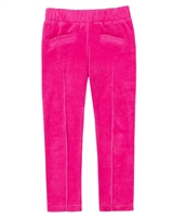 Deux par Deux Fuchsia Velour Leggings Owl You Need is Love