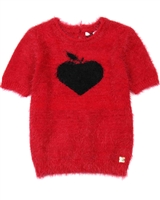 Deux par Deux Sweater with Heart Black and White