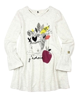 Deux par Deux Tunic with Print Black and White