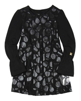 Deux par Deux Tunic in Apples and Pears Print Black and White