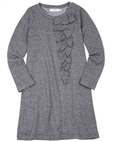 Deux par Deux Dress with Ruffle in Gray Girls Night Out