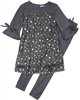 Deux par Deux Tunic in Stars and Leggings Set Night Queen