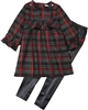 Deux par Deux Tartan Tunic and Leggings Set Night Queen