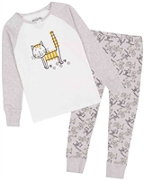 Deux par Deux Cats and Dogs Print Pyjamas Set