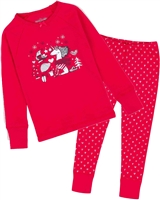 Deux par Deux Pyjamas Set with Heart Print Pants