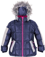 Deux par Deux Short Puffer Jacket in Navy