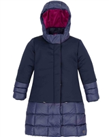 Deux par Deux Long Puffer Jacket in Navy
