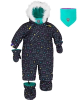 Deux par Deux Baby Girl 1-Piece Snowsuit Cat Eyes and Pretty Face