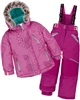 Deux par Deux Girls' 2-Piece Snowsuit Fanny Mandalas Raspberry