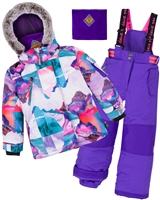Deux par Deux Girls' 2-Piece Snowsuit Magic Hour Purple