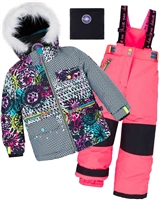 Deux par Deux Girls' 2-Piece Snowsuit Great Escape Pink