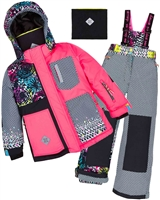 Deux par Deux Girls' 2-Piece Snowsuit Great Escape Sport