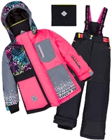 Deux par Deux Girls' 2-Piece Snowsuit Great Escape Sport Pink