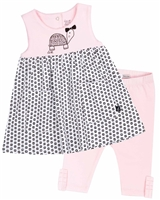 Deux par Deux Tunic and Leggings Set in Pink Milky Baby